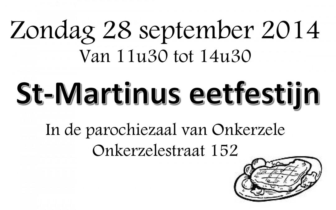 Welkom op Sint-Martinus eetfestijn Onkerzele op zondag 28 september 2014