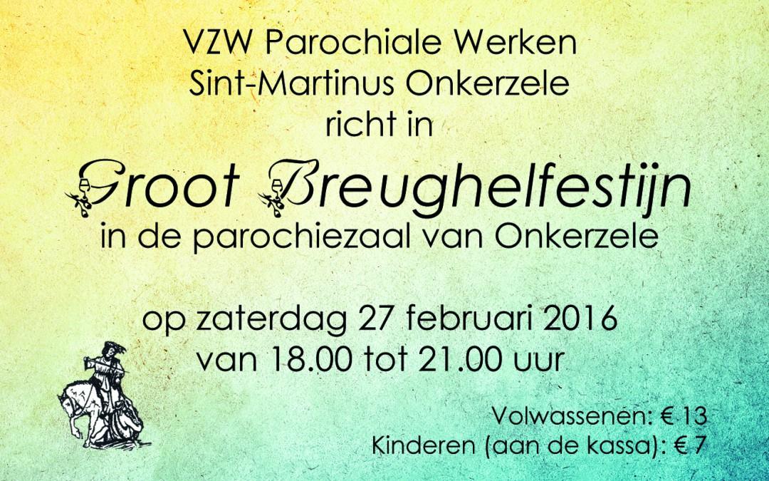 Brueghelfestijn op zaterdag 27 februari 2016